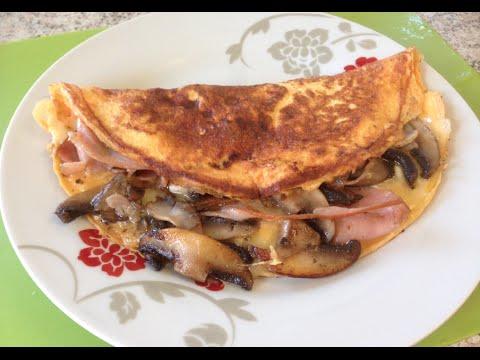 HOW TO MAKE HAM CHEESE MUSHROOM OMELETTE  - Greg's Kitchen