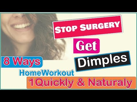 Top 8 Ways to Get Dimples home workout  How to Get Dimples quickly and Naturally