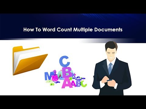 How to word count multiple documents?