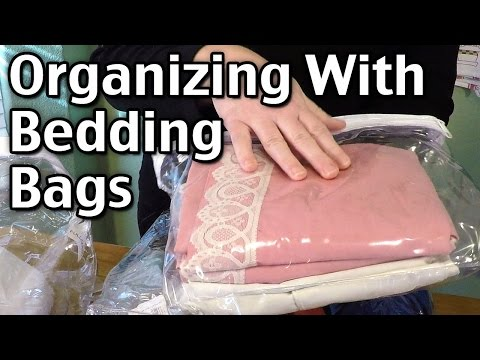 Organizing With Bedding Bags - Comforter And Sheet Plastic Zipper Bags