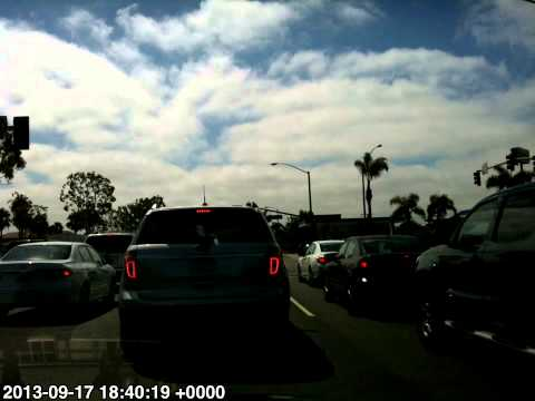 Horror of LA Traffic. Timelapse drive Huntington Beach to Downtown Los Angeles & Back