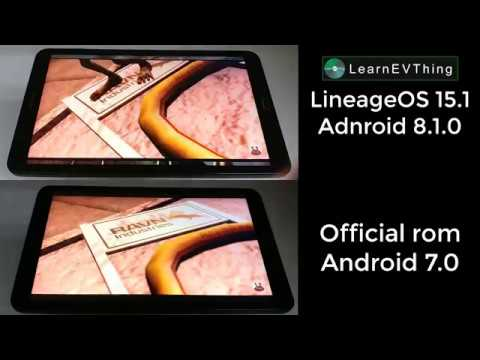 samsung tab A speed test android 7.0 vs 8.1 LineageOS