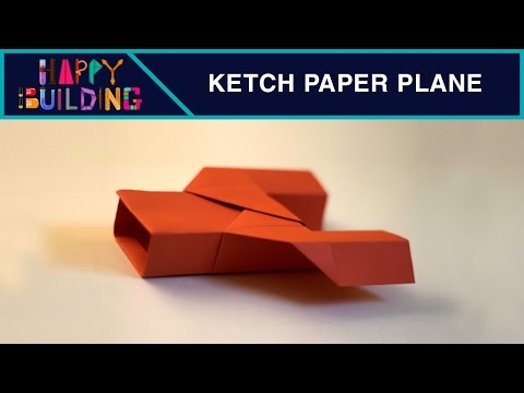 How to make a Ketch Paper Plane! Happy Building!
