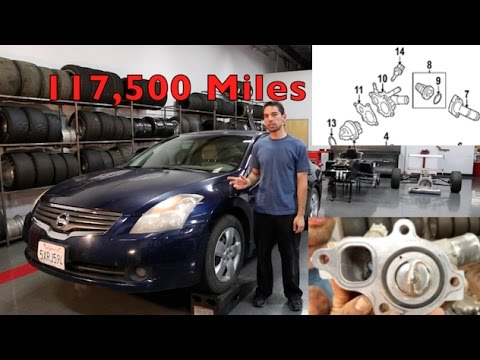 Nissan Altima Thermostat / Water Valve Replacement