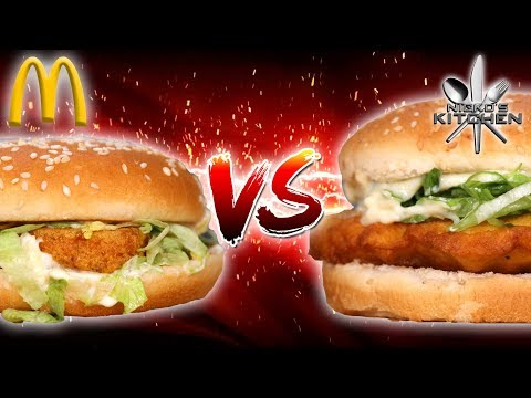 McDONALDS McCHICKEN vs HOMEMADE - McCHEATING to win?!!