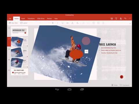 PowerPoint for Android tablet: Getting started
