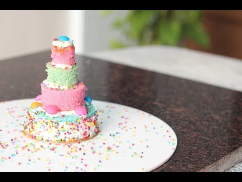 How to make a 4 tier mini cake @ home -  very easy