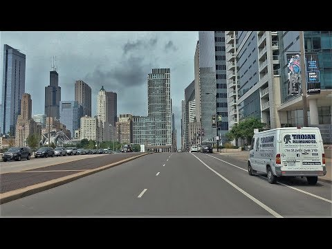 Driving Downtown - Chicago's Skyline - Chicago Illinois USA