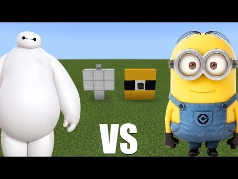 What Happens When You Spawn Minions & Baymax in Minecraft PE?