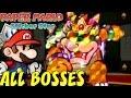 Paper Mario: Sticker Star - All Bosses and Mini-Bosses