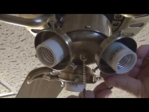 How To Replace A Ceiling Fan Pull Chain  Light Switch video