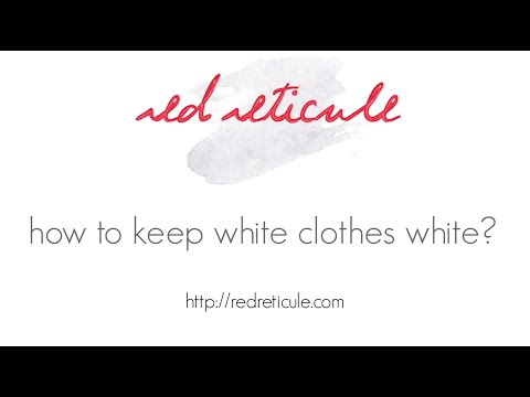 how to keep white clothes white?