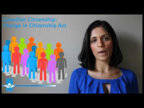 Canadian Citizenship Change in Citizenship Act