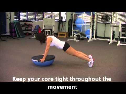 BOSU Ball Upper Body Core Workout