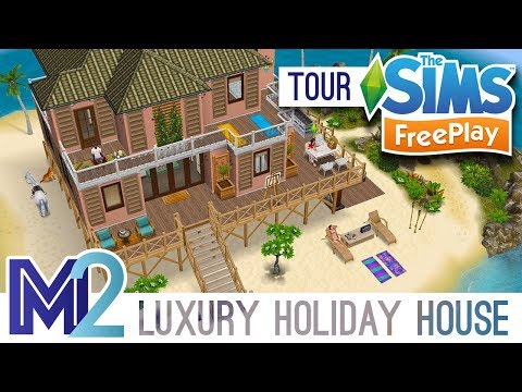 Sims FreePlay - Island Luxury Holiday House (Original Design)