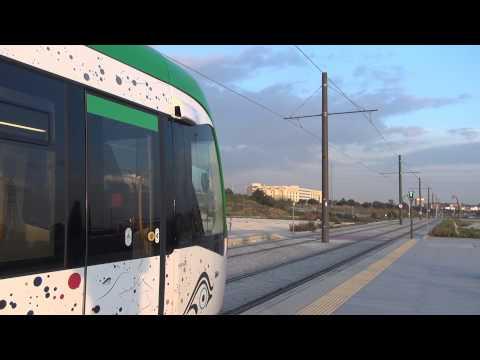 Metro (subway) - Tram in Malaga, Andalucia, Costa del Sol, Spain