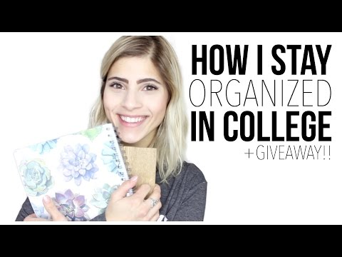 How I Stay Organized in College! + PLANNER GIVEAWAY!