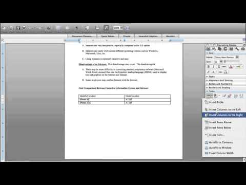 How to add a column on a table on Mac