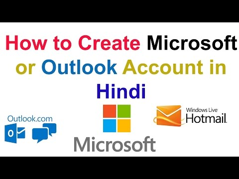 How to Create Microsoft or Outlook Account in Hindi ||Technical Naresh