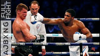 Full Fight | Anthony Joshua Vs Alexander Povetkin KO
