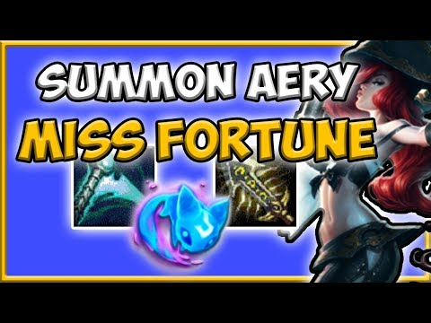 MISS FORTUNE BOT SUMMON AERY! - Preseason 8 Season 8 s8 Patch 7.24 Gameplay w/ Commentary Guide