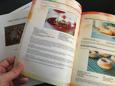 Print Professional Personal Cookbooks