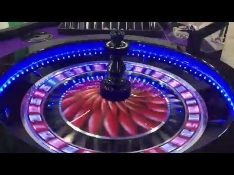 Saturn Glo Roulette Wheel At G2E Asia 2016 - Colour Changing LED Lights