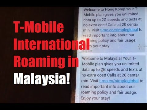 T-Mobile International Roaming in Malaysia! (Speed Test, Web, Navigation)