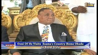 Ooni Of Ife Visits Esama's Country Home Okada In Royal Style