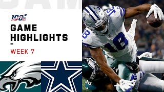 Eagles vs. Cowboys Week 7 Highlights | NFL 2019