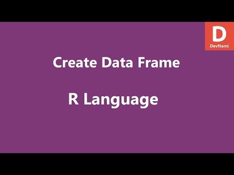 R Programming Create Data Frame