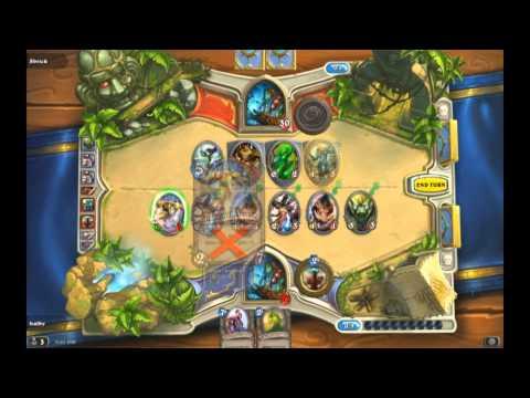 [Hearthstone Deck Preview] - A cheap master's league shaman deck (14 games at 16x speed)