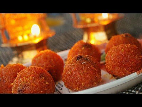 Carrot ladoo - Carrot laddu -Carrot laddu recipes - Indian dessert recipe - Carrot recipes