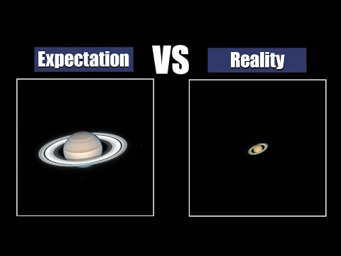 Planets through telescope.Expectation and Reality