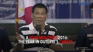A foul-mouthed 2016: The year in Duterte