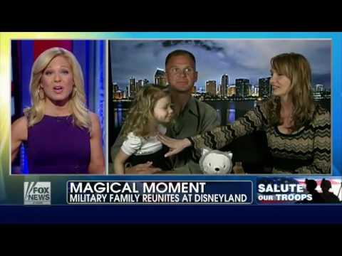 Military family reunites at Disneyland