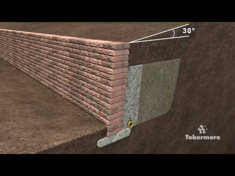 Tobermore's guide to constructing a gravity retaining wall