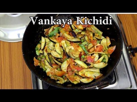 Telangana Vankaya Khichdi or Brinjal Khichdi @ Mana Telangana Vantalu