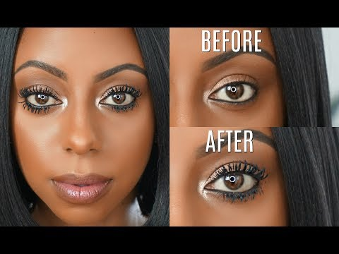 How to make your EYELASHES appear LONGER! Mascara routine | Jessica Pettway