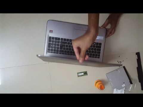 HP 15 series laptop ram upgrade/add/improve/increase 15-bg001AX Notebook tutorial