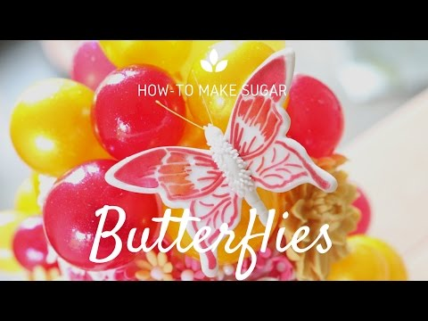 Learn how to make a stencilled sugar butterfly