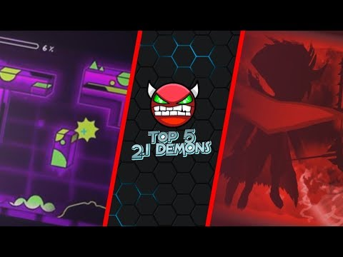 Top 5 Best 2.1 Demons - Geometry Dash (New Editing Style)
