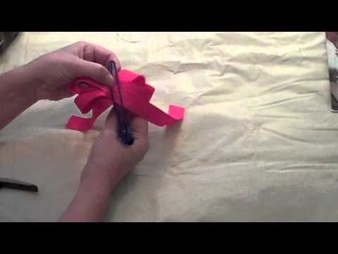 How to Make a Ribbon Bow: Step by Step Instructions Using Grosgrain Ribbon