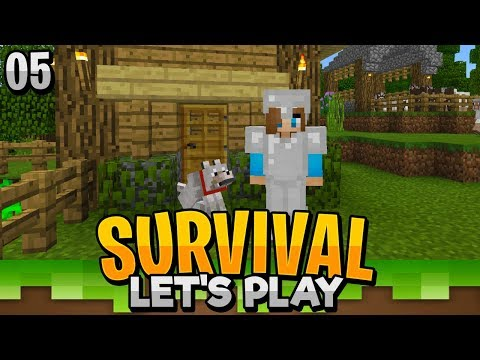 WE HAVE A FRIEND!! - Minecraft Bedrock Survival Let's Play EP.5 (PE WIN10)