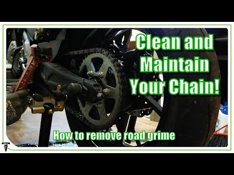 Motorcycle Chain Maintenance | Clean and Lubricate