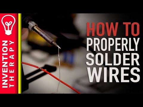How to Splice and Solder Two Wires Together With A Soldering Iron