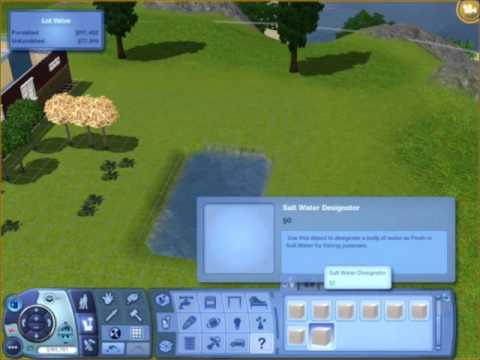 Sims 3-Make a FISHING POND on your LOT! :D