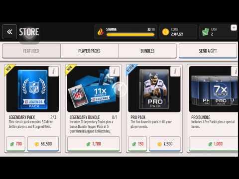 Madden Mobile |  3 Legendary Packs Opening!