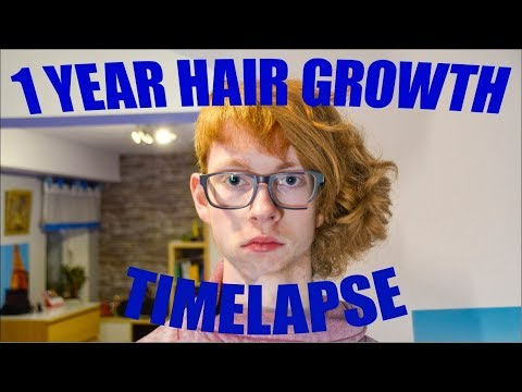 1 Year Hair Growth in 30 seconds | Timelapse | TheRedhead | 1 Picture every Day