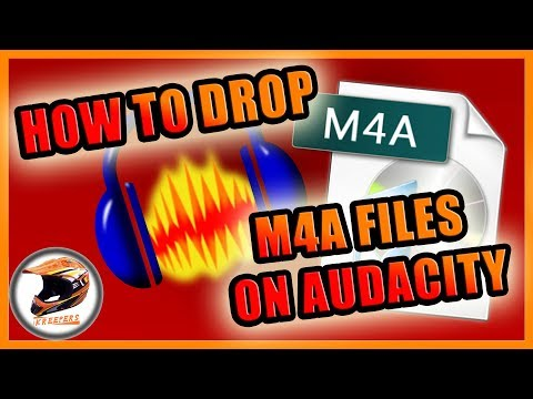 How to drop M4A Files on Audacity (ElGato Files)